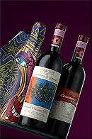 Limited edition of Casanuova di Nittardi wine bottles